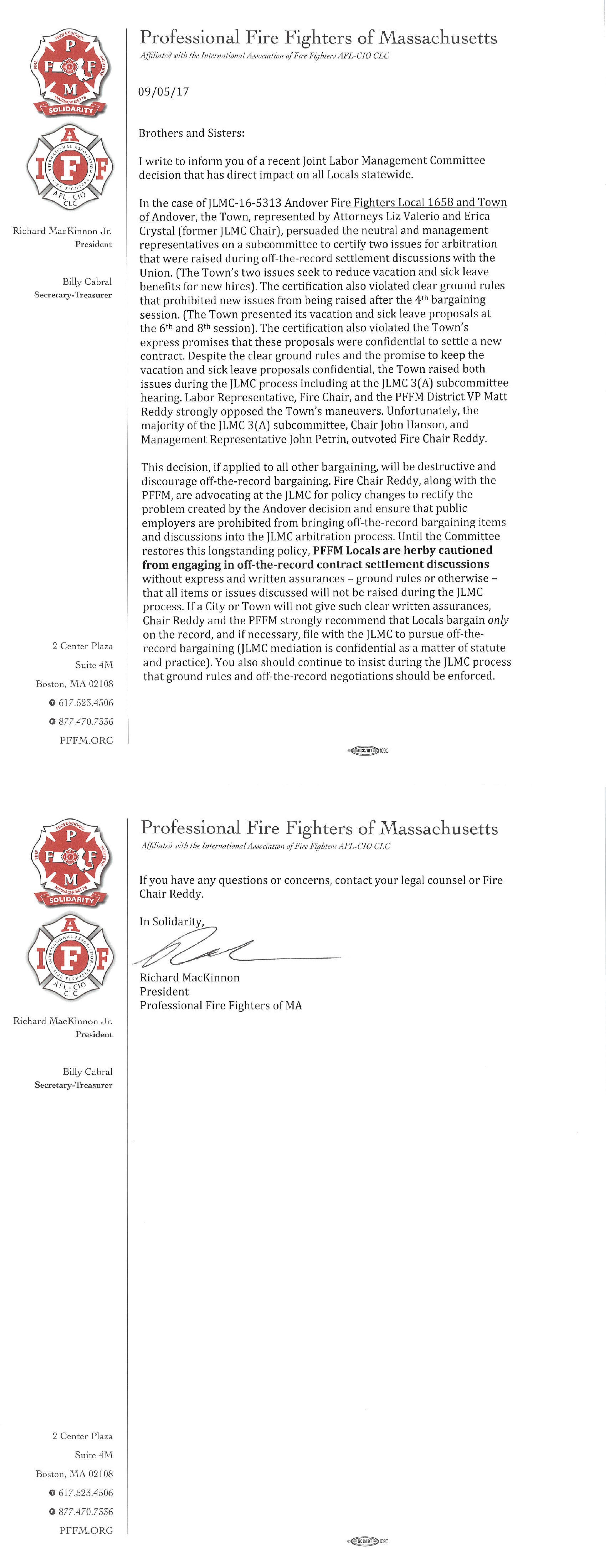 Professional Fire Fighters of Massachusetts PFFM – Fire Service Application Form
